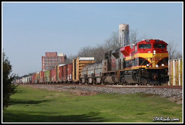 KCS SD70ACE 4191 at Sugar Land TX on freight train