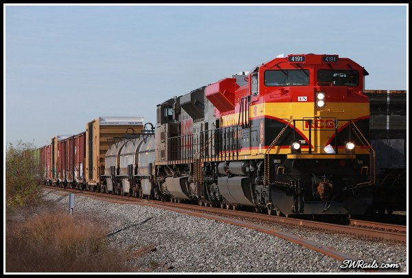KCS SD70ACE 4191 at Missouri City TX on freight train