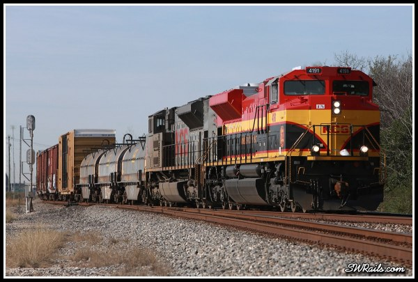 KCS SD70ACE 4191 at Houston TX on freight train