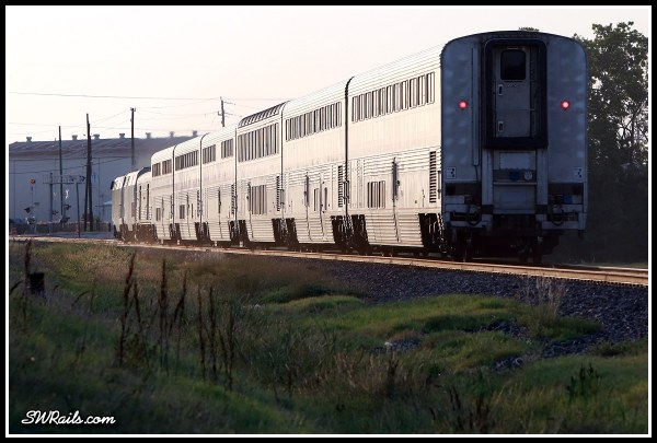 Amtrak  train #1, the Sunset Limited in Stafford,TX