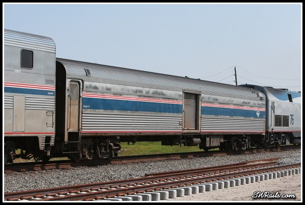 Amtrak baggage car 1714 at Stafford TX