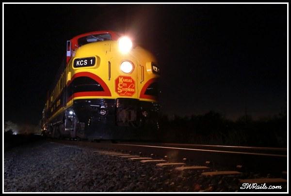 KCS 1 F9A Southern Belle Wharton TX 2015 Holiday express